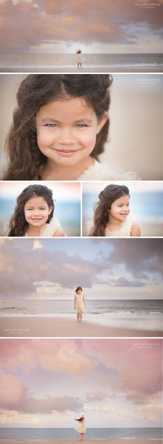 NYC photographer Michael Kormos captures lifestyle child model photography of three 6-year old girls during a fun experience at the beach