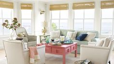 Here's a must-read article from Country Living:  35 Easy Breezy Beach House Decorating Ideas