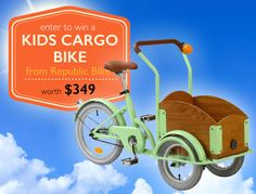 Inhabitots Republic Bike Kids Cargo Bike Giveaway