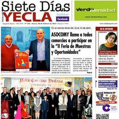 ya esta disponible la portada del Siete Dias Yecla y mañana en su edición impresa en todas las librerias y estaciones de servicio de nuestra ciudad