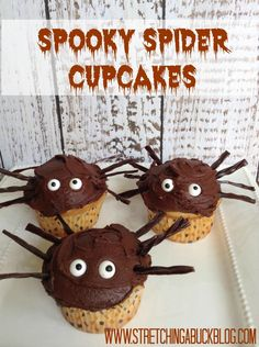 Easy Spooky Spider Cupcakes Recipe