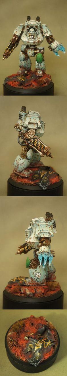 40k - Loyalist Death Guard Contemptor by Demonrich
