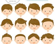 Brunette Girl Faces  Create A Character Series  by JWIllustrations