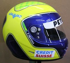 Felipe Massa Helmet #174 ~ Hand Painted Helmets - Design your helmet today..!!