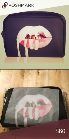 Limited birthday edition Kylie Jenner makeup bag Never opened Kylie Jenner makeup bag. Box and note not included. Kylie Cosmetics Bags