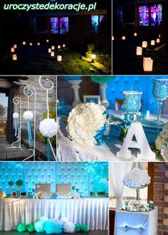 Romantyczne dekoracje weselne, Dekoracje sal weselnych.
