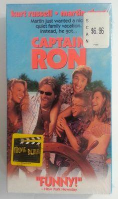 CAPTAIN RON -Kurt Russell Martin Short -VHS - NEW - Never played!! - RARE!!