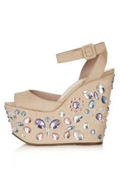 WOWZER Jewelled Wedges - Heels - Shoes - Topshop