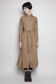 Totokaelo - Electric Feathers - Camille Coat Dress - Mushroom