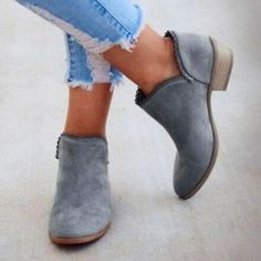 Women Boots Female Square Heel Slip On Fashion Women Low Heel Shoes Po – shoemehoney Low Heel Shoes, Low Heels, Shoes Heels, Flats, Warm Boots, Brown Shoe, Chunky Heels, Comfortable Shoes, Fashion Boots