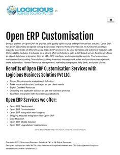 Open ERP customisation by Logicious Solution via slideshare