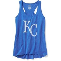 Old Navy MLB Team Racerback Tank For Women ($20) ❤ liked on Polyvore featuring tops, old navy, racerback tank, scoop neck tank, major league baseball jerseys and racerback tank top