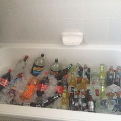 Bath Tub + Ice + Alcohol + PARTY = great idea!@Plainview Vintage DeMarco
