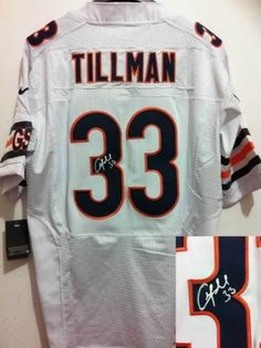 Men s Nike Nfl Chicago Bears  33 Charles Tillman White Signed Elite Jersey   22 per piece 90ac71db7