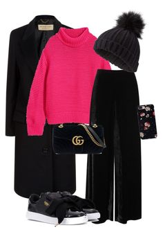 """""""pink sweater"""" by linnjanssons on Polyvore featuring Burberry, M Missoni, Puma, Miss Selfridge and Gucci"""