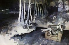 Julien Spianti, Guardami, 2012, Oil on canvas, 195 x 130 cm, Private collection, Lille ©