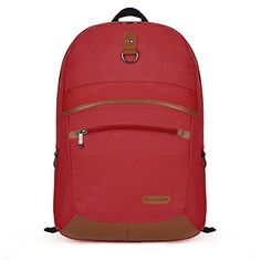 Aktion MH Series Unisex-Adult Stylish Red Nylon Laptop Backpack - Click image twice for more info - See a larger selection of red  backpacks at http://kidsbackpackstore.com/product-category/red-backpacks/. - kids, juniors, back to school, kids fashion ideas, teens fashion ideas, school supplies, backpack, bag , teenagers girls , gift ideas, red