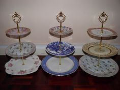 Vintage Musings Of A Modern Pinup: How To Make a 3 Tiered Cake Stand For Less Than $10