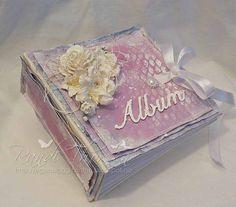 RANDI'S LILLE BLOGG: Scrap and Craft - Album i shabby chic-stil