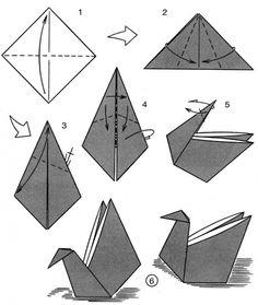 "Swan ""basket"" or napkin fold"