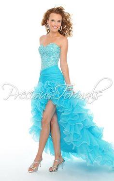 A beautiful blue prom dress from Precious Formals.