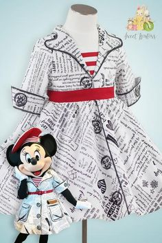 DISNEY STORE MINNIE MOUSE FRUIT PRINT DRESS SET FOR BABY TULLE EDGED UNDERSKIRT