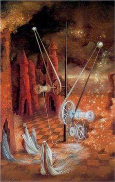 Remedios Varo - Premonition (1953)