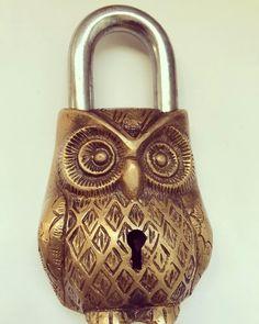 Coming soon! #Owl lock #antique #vintage #Tibetan #himalayan #padlock #EtsySeller #fossilsofthefuture #comediscover