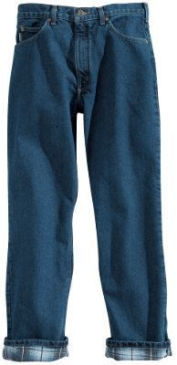 Carhartt Flannel-Lined 5-Pocket Jeans for Men - 46x30