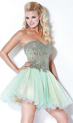 Baby doll Chiffon Strapless Short Dress fashion02892