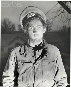 WWII American POW who was Mistreated - BE069121 - Rights Managed - Stock Photo - Corbis. Original caption:2/13/1945-Germany- Photo of a POW from Lucer Mines, IN, soldier from the 513th Parachute Regiment, who was captured by the Germans in the vicinity of Bastogne on January 7th. He was rescued by the 4th Infantry Division, Third Army, when their troops pushed into Prum. He was treated roughly by the Germans, used as slave labor in construction jobs and repair work on railroads.