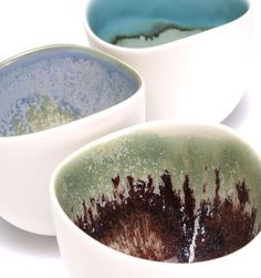 Rie Tsuruta  |  Landscape Bowls (h:7.5 x w:8.5 cm), slip-cast porcelain.