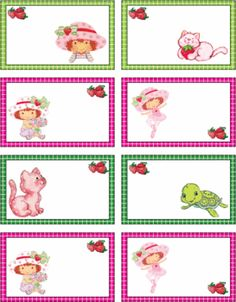 Strawberry Shortcake Tags