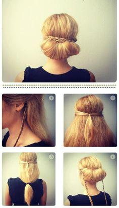 Sıfır yaka kıyafetlerinizin üzerinde güzelliğinizi öne çıkaracak saçınızı kendiniz yapabilirsiniz...