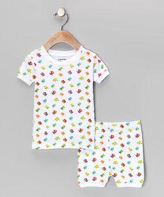 Another great find on #zulily! White Bird Pajama Set - Infant, Toddler & Girls by Leveret #zulilyfinds