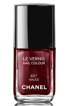 CHANEL LE VERNIS NAIL COLOUR in Malice (gorgeous deep red with red sparkles) Holiday 2012 collection