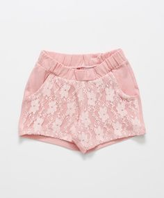 Short Kids Rosa Claro Kids Shorts, Cute Shorts, Casual Shorts, Short Niña, Short Girls, Short Infantil, Frocks For Girls, Girl Dress Patterns, Cute Baby Girl Outfits