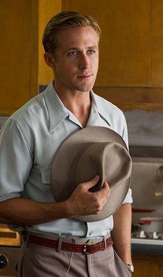 Ryan Gosling Hair, Ryan Gosling Movies, Ryan Gosling Style, Ryan Thomas, Mafia Gangster, Recent Movies, Hollywood Men, Its A Mans World, Dapper Men