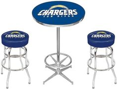 San Diego Chargers NFL Pub Table Set