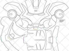 Classic Storm trooper Helmet - & Letter Size PDF Template (Ready to Print) Cardboard Costume, Cardboard Mask, Diy Cardboard, Cardboard Animals, Iron Men, Wallpaper Spider Man, Man Wallpaper, Dali, Casco Iron Man