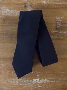 auth BRUNELLO CUCINELLI dark navy blue wool tie - NWT