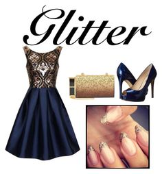"""""""Glitter"""" by sarah-renea22 ❤ liked on Polyvore featuring Chi Chi, GUESS and Tom Ford"""