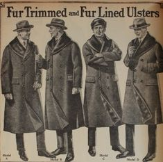 1920s Fur Trim Ulster Coats   http://www.vintagedancer.com/1920s/1920s-mens-coats-jackets/