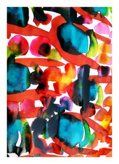 """And more happy here smile emoticon My """"COLOURBURST9"""" won an editor pick in """"For Art Sake"""" by Minted! This art print will be available in my Minted shop soon. #minted #mirandamol #artprint #painting #ecoline"""