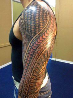 Filipino tribal tattoo done Jonathan Cena tribal-tattoo-sleeve