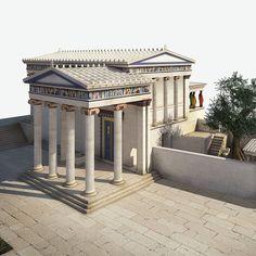 Architecture Antique, Ancient Greek Architecture, Ancient Buildings, Classical Architecture, Historical Architecture, Sustainable Architecture, Beautiful Architecture, Landscape Architecture, Ancient Greek Art