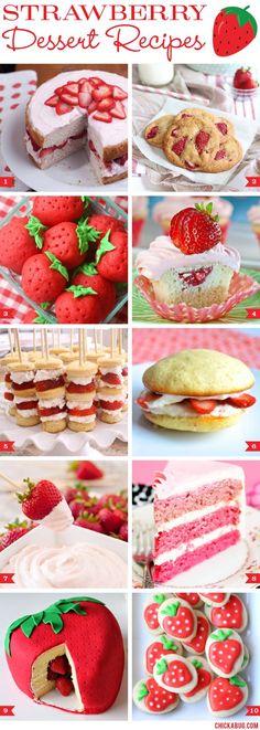 Strawberry dessert recipes!