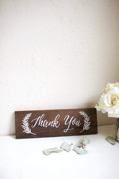 The SOPHIA Collection hand painted stained wood wedding sign. Wedding Thank You sign Paint Stained Wood, Dark Wood Stain, Painted Signs, Hand Painted, Thank You Sign, Wood Wedding Signs, Wood Windows, Wedding In The Woods, Weathered Wood