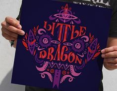 Little Dragon by Typebrain // Reminds me a little of Sanna Annukka. Love the colors! #Typography