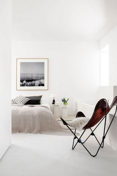 Neutral and minimalist bedroom